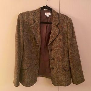 Talbots Brown tweed blazer